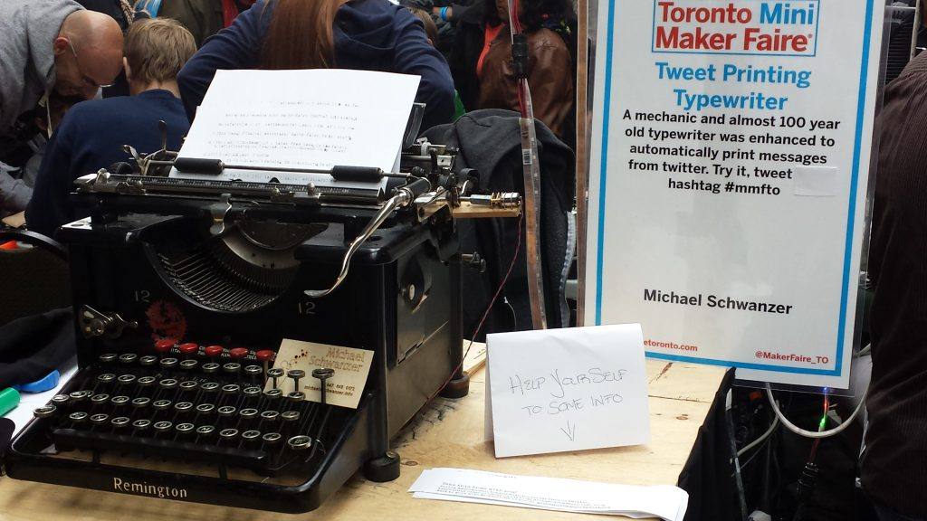 Tweeting Typewriter at Maker Faire Toronto