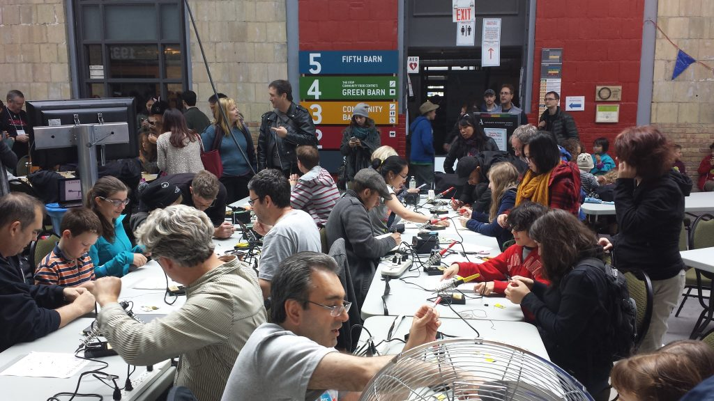 Soldering Workshop at Maker Faire