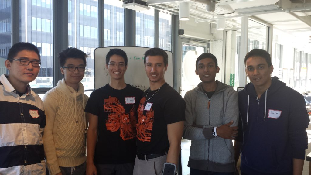 Winning Team at The Next 36 Toronto Hackathon