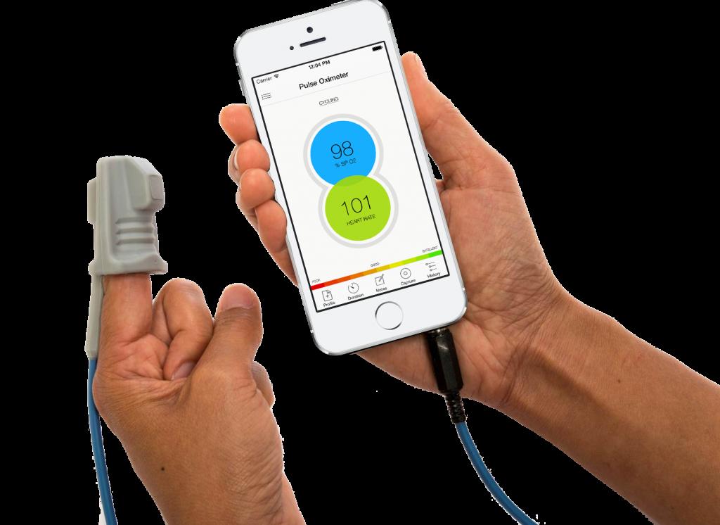 The Phone Oximeter - phone and sensor