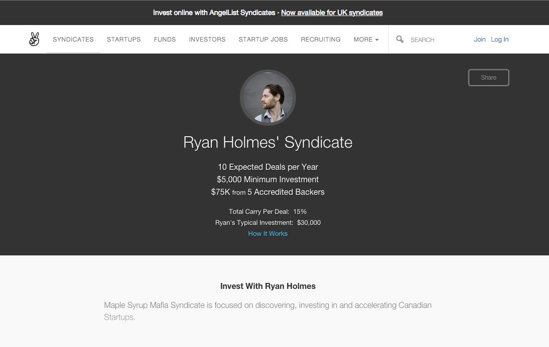 Ryan Holmes syndicate