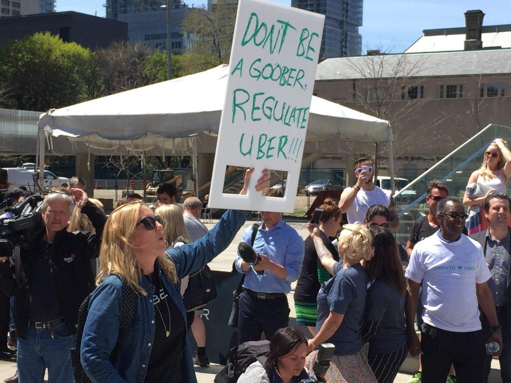 Uber Toronto rally