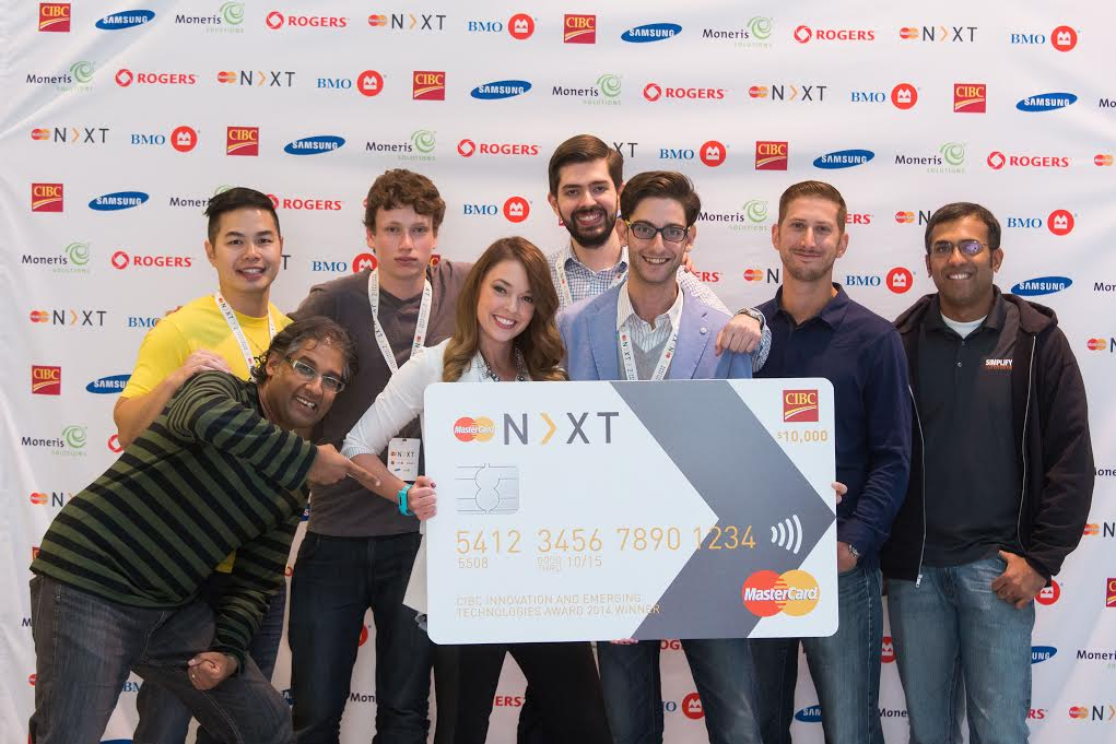 Nicolas with the winner of the 2014 MasterCard N>XT event
