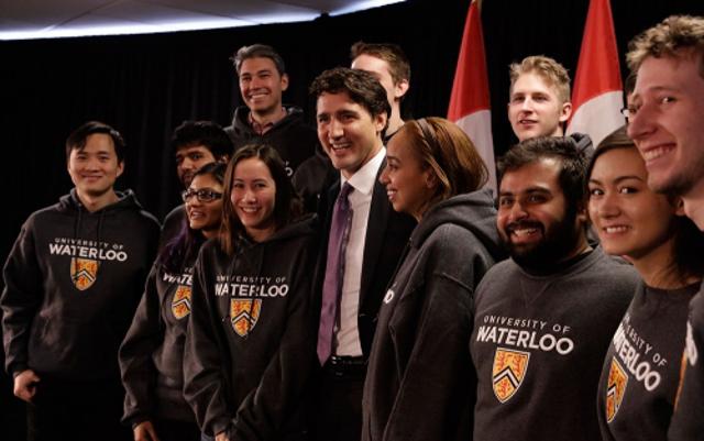 Justin Trudeau University of Waterloo