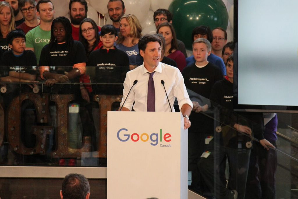 Justin Trudeau at Google