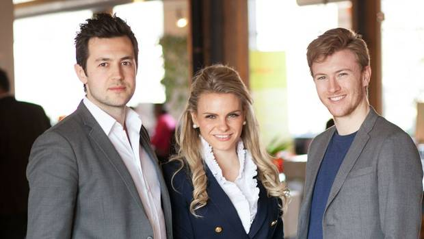 Anatoliy Melnichuk, Michele Romanow and Ryan Marien at Buytopia