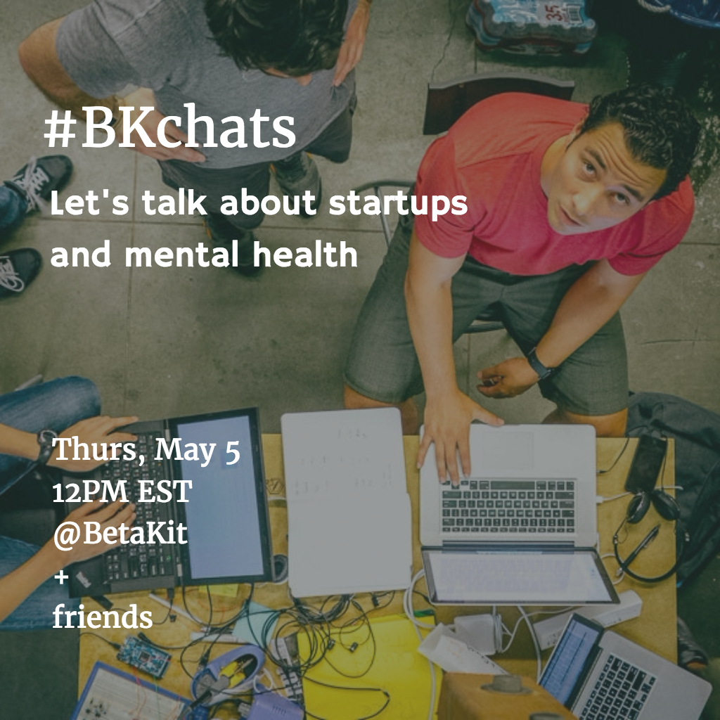 #BKchats startups and mental health
