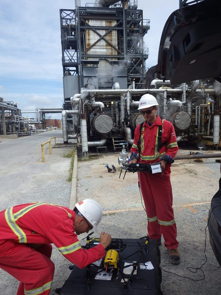 The team doing field inspections for Shell
