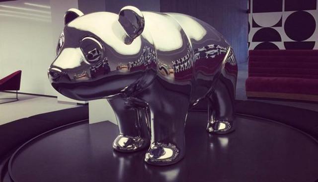 DropBox's $100,000 chrome panda statue