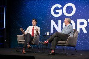 Justin Trudeau and Eric Schmidt
