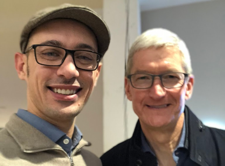 Tim Cook Apple and Tobias Lutke Shopify