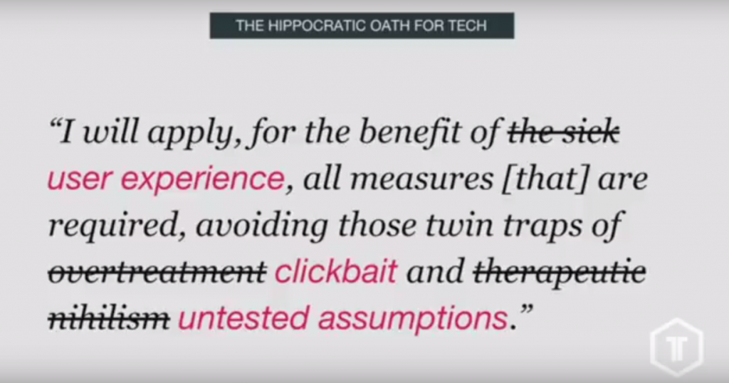 hippocratic oath for tech