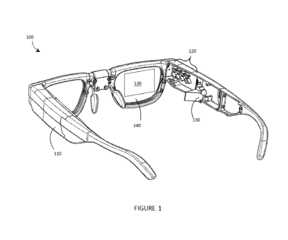 Thalmic patent glasses temple