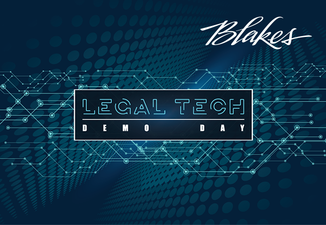 Blake's Legal Tech Demo Day