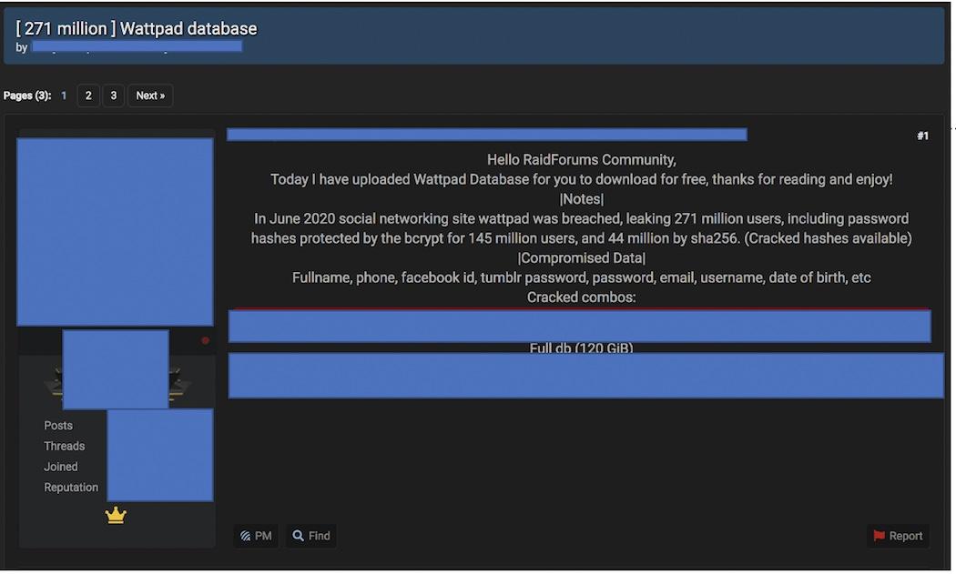Forum post - Wattpad