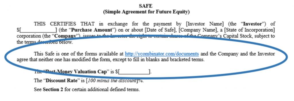 SAFE agreement