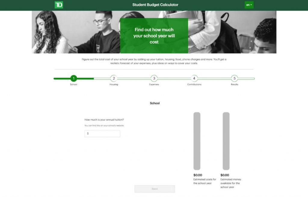 TD Lab financial literacy tool