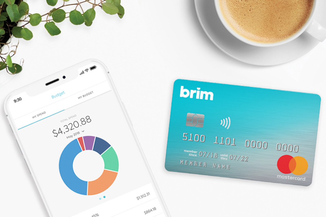 Brim Financial's mobile app and credit card