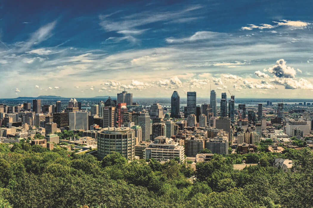 Montreal skyline from Mount Royal