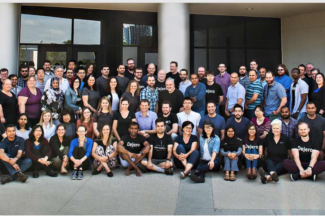 Photo of the Dejero team