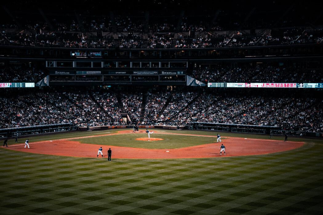 A baseball game in progress