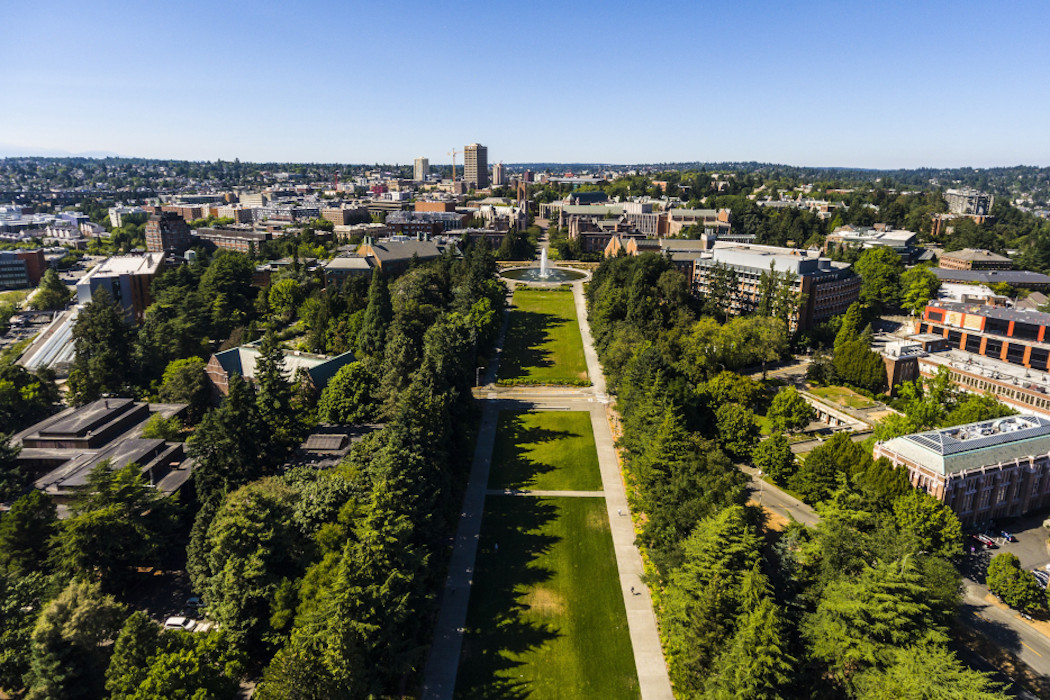 University of Washington campus aerial view