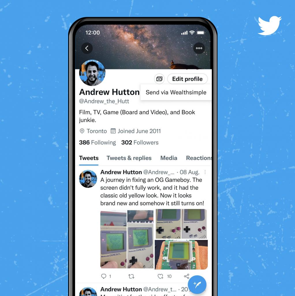 Twitter Tip Jar with Wealthsimple