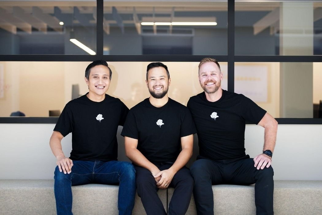 Rose Rocket's founders: Alexsander Luksidadi, Justin Sky, and Justine Bailie